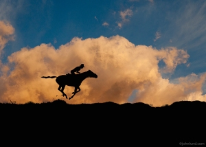 Horse-Rider-Sunset-Silhouette